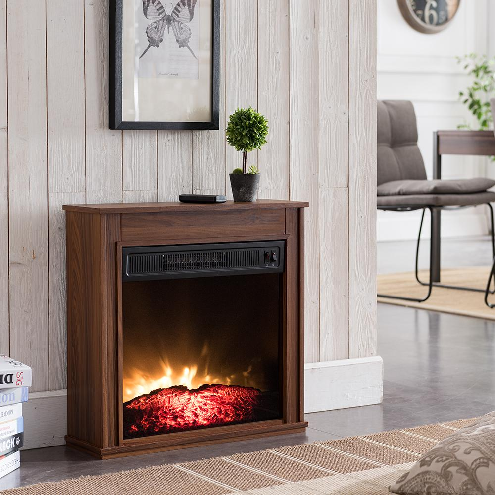 Hampton Bay 23 In Compact Electric Fireplace In Oak Sp5946 The
