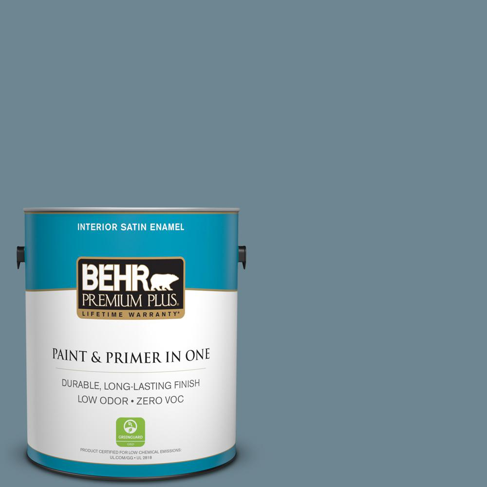 Home Decorators Collection 1-gal. #HDC-AC-24 Lyric Blue Zero VOC Satin Enamel