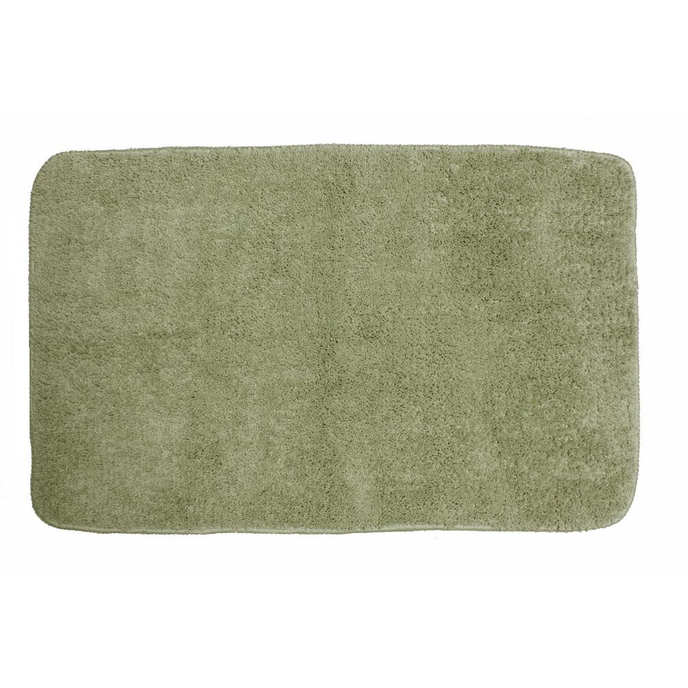 Polyester Bath Mat In Sage Green