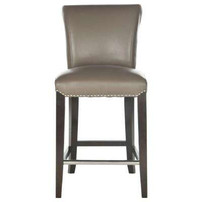 Seth 25.9 in. Clay Cushioned Bar Stool