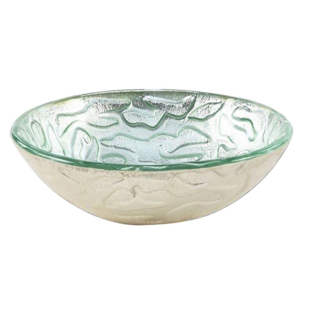 Hembry Creek Glass Vessel Sink in Silver