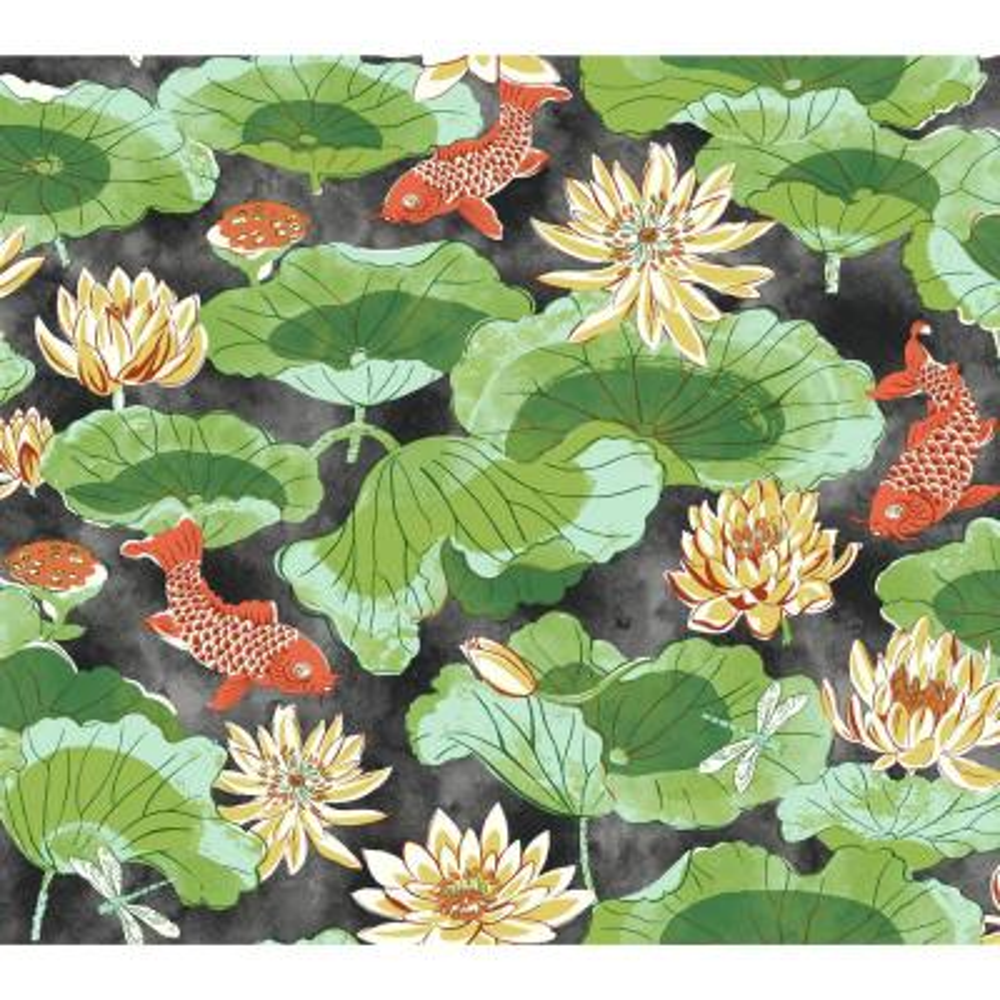 Waverly Classics II Lotus Lake Removable Wallpaper