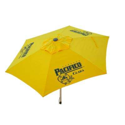 Pacifico 8.5 ft. Aluminum Tilt Patio Umbrella in Yellow Polyester