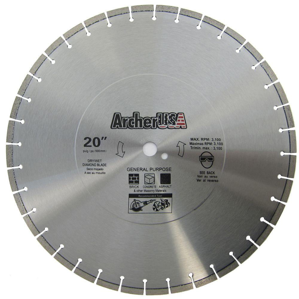 20 in. Diamond Blade for General Purpose