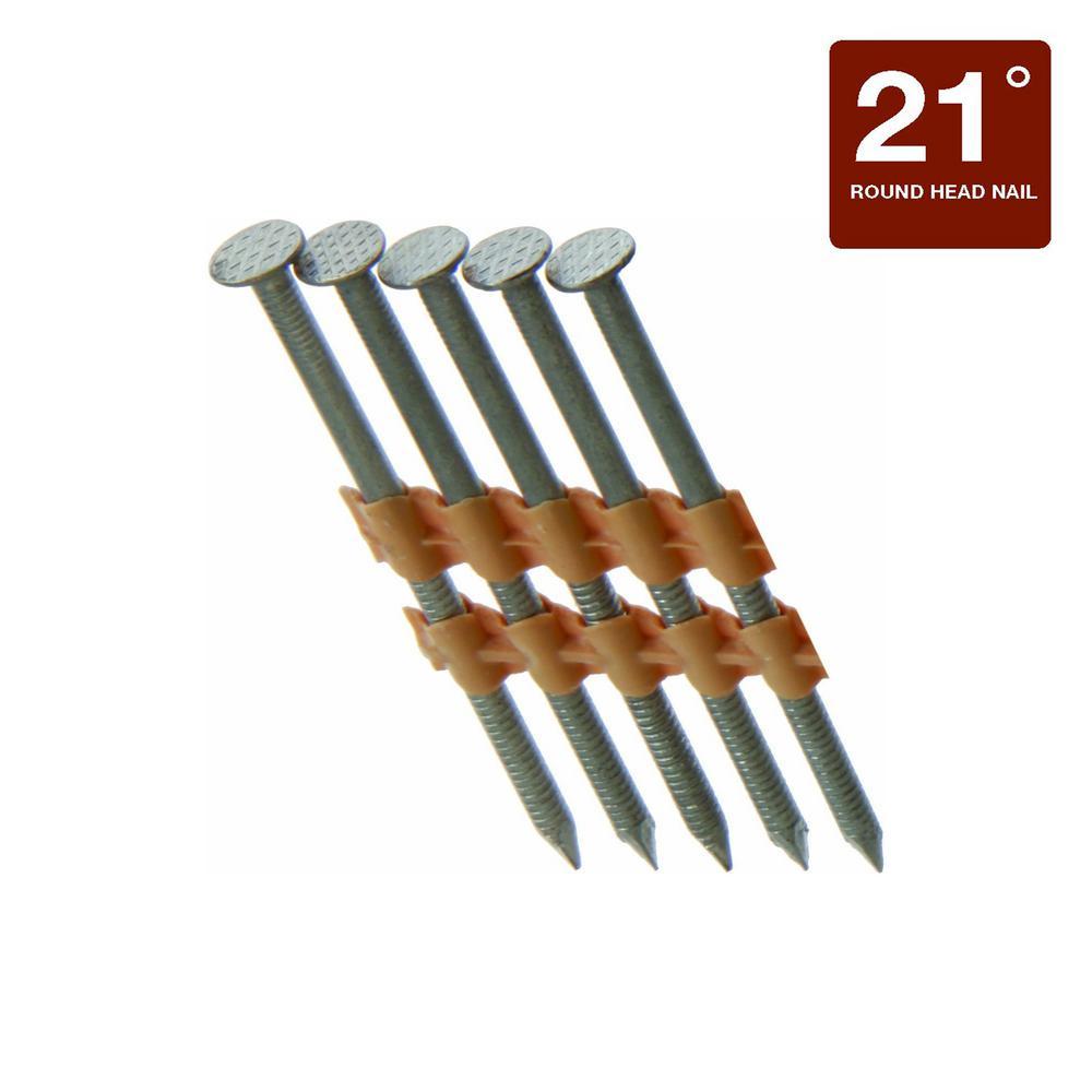 2-3/8 in. x 0.113 Plastic Exterior Galvanized Ring Shank Nails (1,000 per Box)