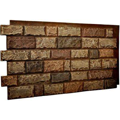 1-1/2 in. x 48 in. x 25 in. Limestone Urethane Cut Coarse Random Rock Wall Panel