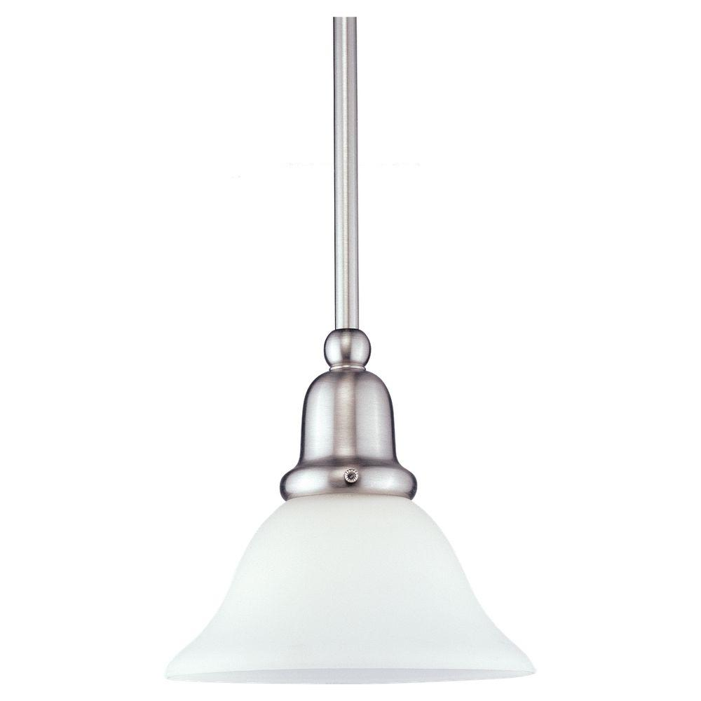 Sea Gull Lighting Sussex 1 Light Brushed Nickel Mini Pendant