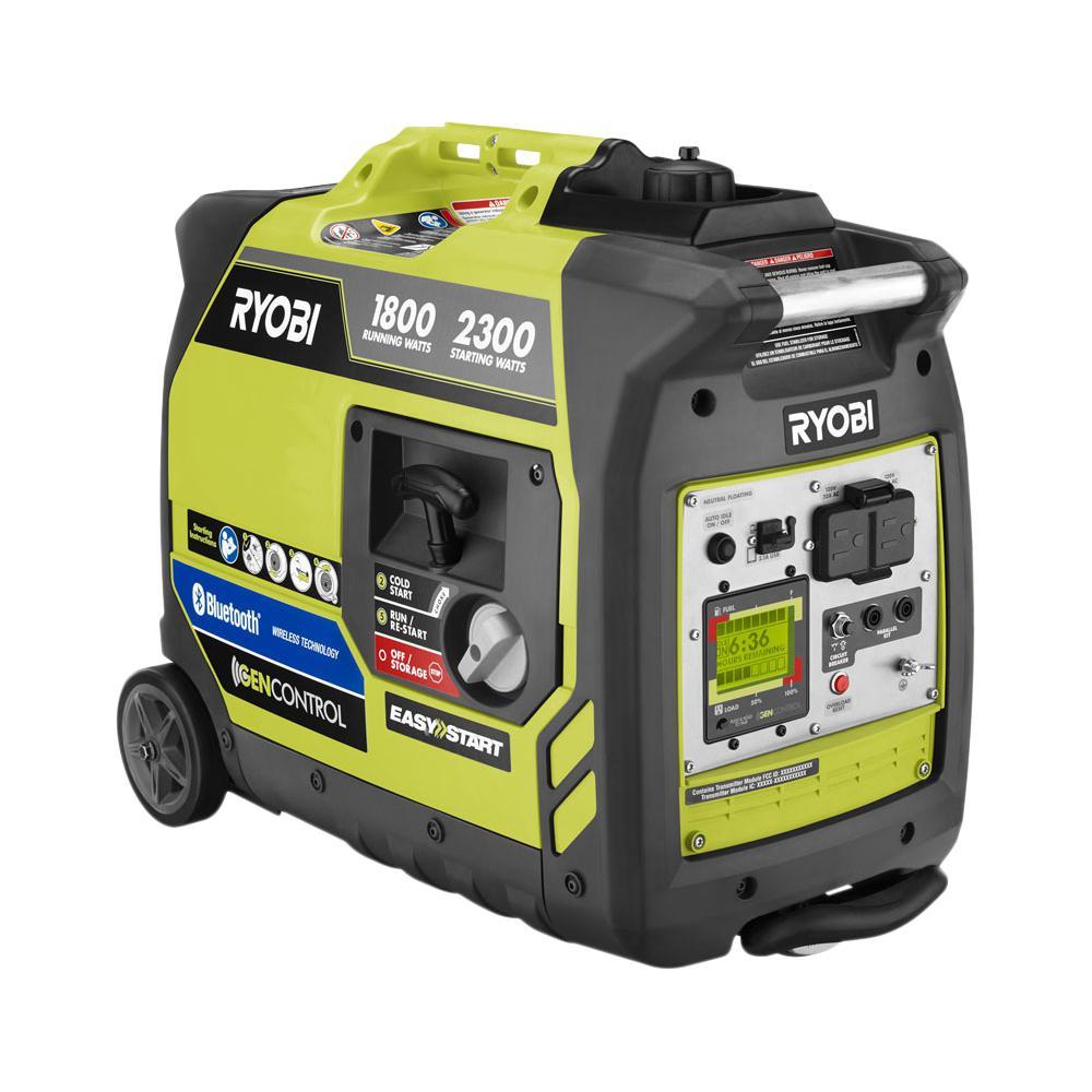 2,300 Starting Watt Reconditioned Bluetooth Super Quiet Gasoline Powered Digital Inverter Generator