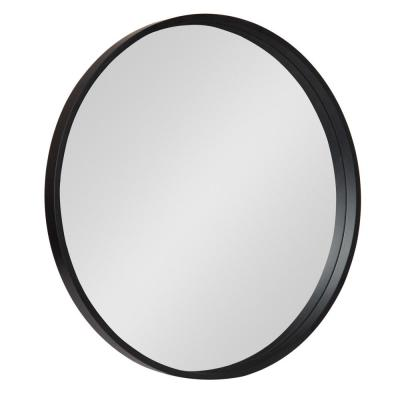 Travis Round Black Wall Mirror