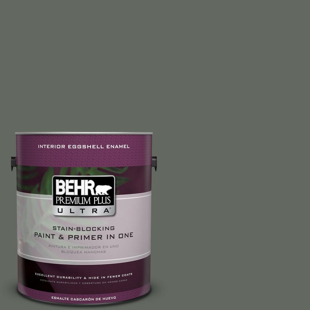 BEHR Premium Plus Ultra 1-gal. #N410-6 Pinecone Hill Eggshell Enamel Interior Paint