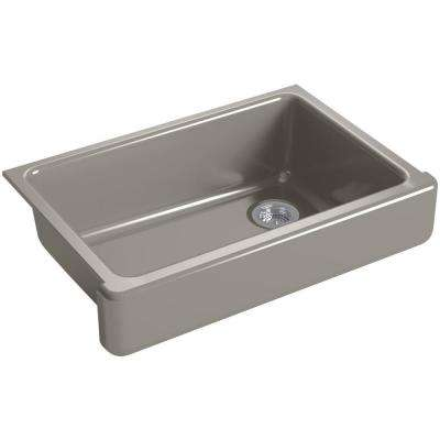 Whitehaven Farmhouse Apron-Front Cast Iron 33 in. Single Basin Kitchen Sink in Cashmere