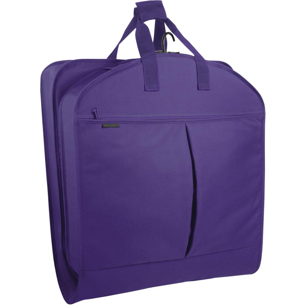 a6ca72000695 WallyBags 40 in. Purple Suit Length Carry-On Garment Bag with 2-Pockets