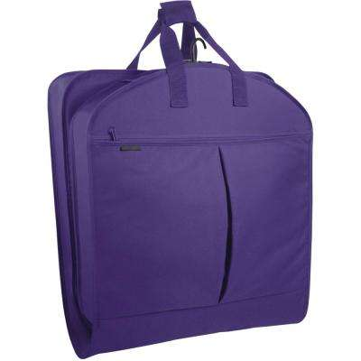 40 in. Purple Suit Length Carry-On Garment Bag with 2-Pockets