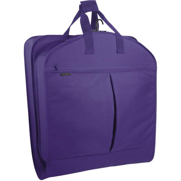 WallyBags 40 in. Purple Suit Length Carry-On Garment Bag with 2-Pockets