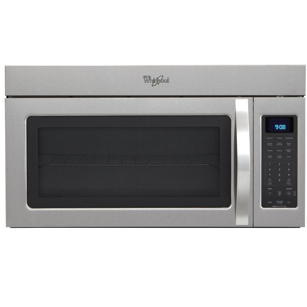 Whirlpool 1.7 cu. ft. Over the Range Microwave in Stainless Steel with Sensor Cooking-DISCONTINUED