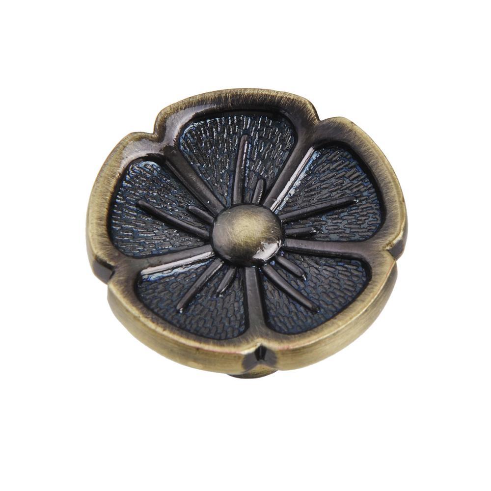 "Utopia Alley Bella Cabinet Knob, Antique Brass, 1.2"" Diameter"