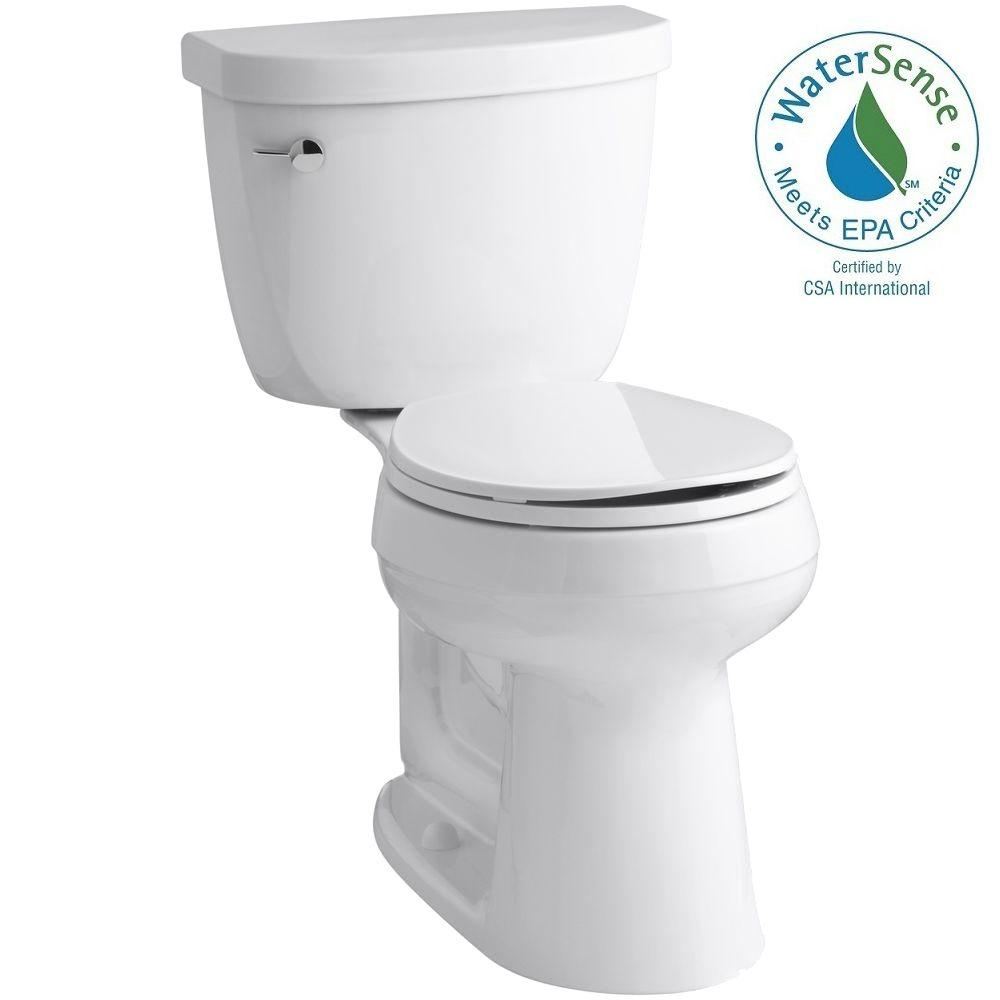 KOHLER Cimarron Complete Solution 2-piece 1.28 GPF Single Flush Round Toilet in White