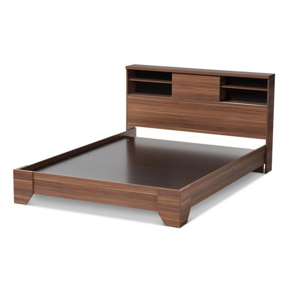 a452747869 Baxton Studio Vanda Medium Brown Wood Queen Platform Bed 28862-7716 ...
