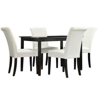 Lamartine 5-Piece White Dining Set