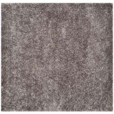 New Orleans Shag Gray 7 ft. x 7 ft. Square Area Rug