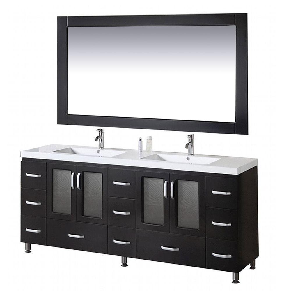 Design Element Stanton 72 in. W x 22 in. D Vanity and Mirror in Espresso on cobb home design, garrison home design, tranquility home design,