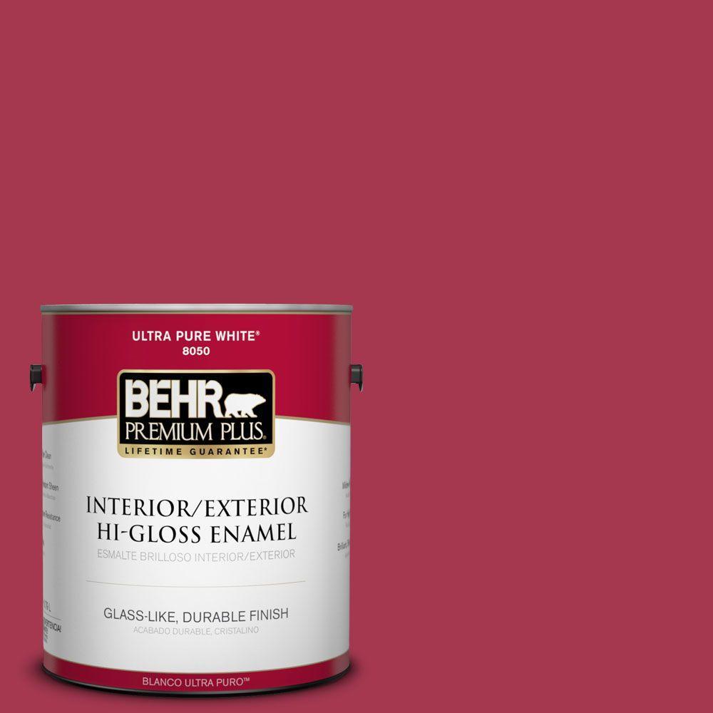 BEHR Premium Plus 1-gal. #S-G-120 Strawberry Daiquiri Hi-Gloss Enamel Interior/Exterior Paint