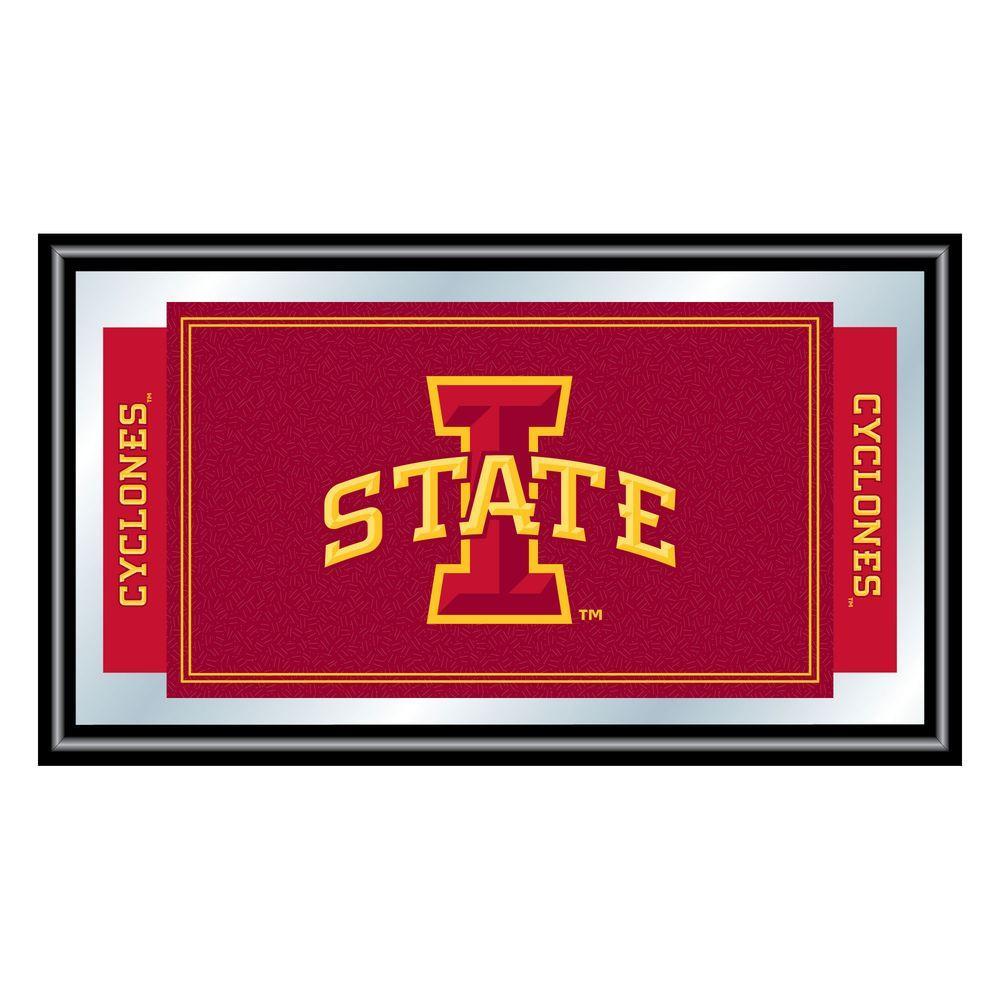 Iowa State University 15 in. x 26 in. Black Wood Framed Mirror