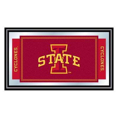 Iowa State University 15 in. x 26 in. Black Wood Framed Mirror