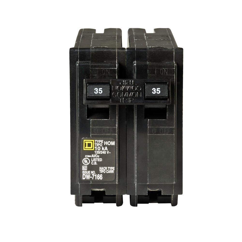 square d homeline 35 amp 2 pole circuit breaker hom235cp. Black Bedroom Furniture Sets. Home Design Ideas