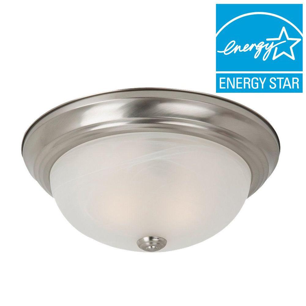 Sea Gull Lighting Windgate 3-Light Brushed Nickel Flushmount