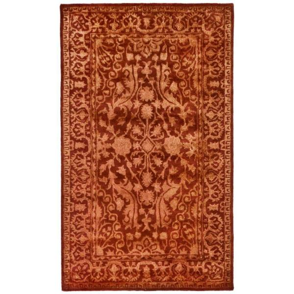 Silk Road Rust 3 Ft X 4 Runner Rug