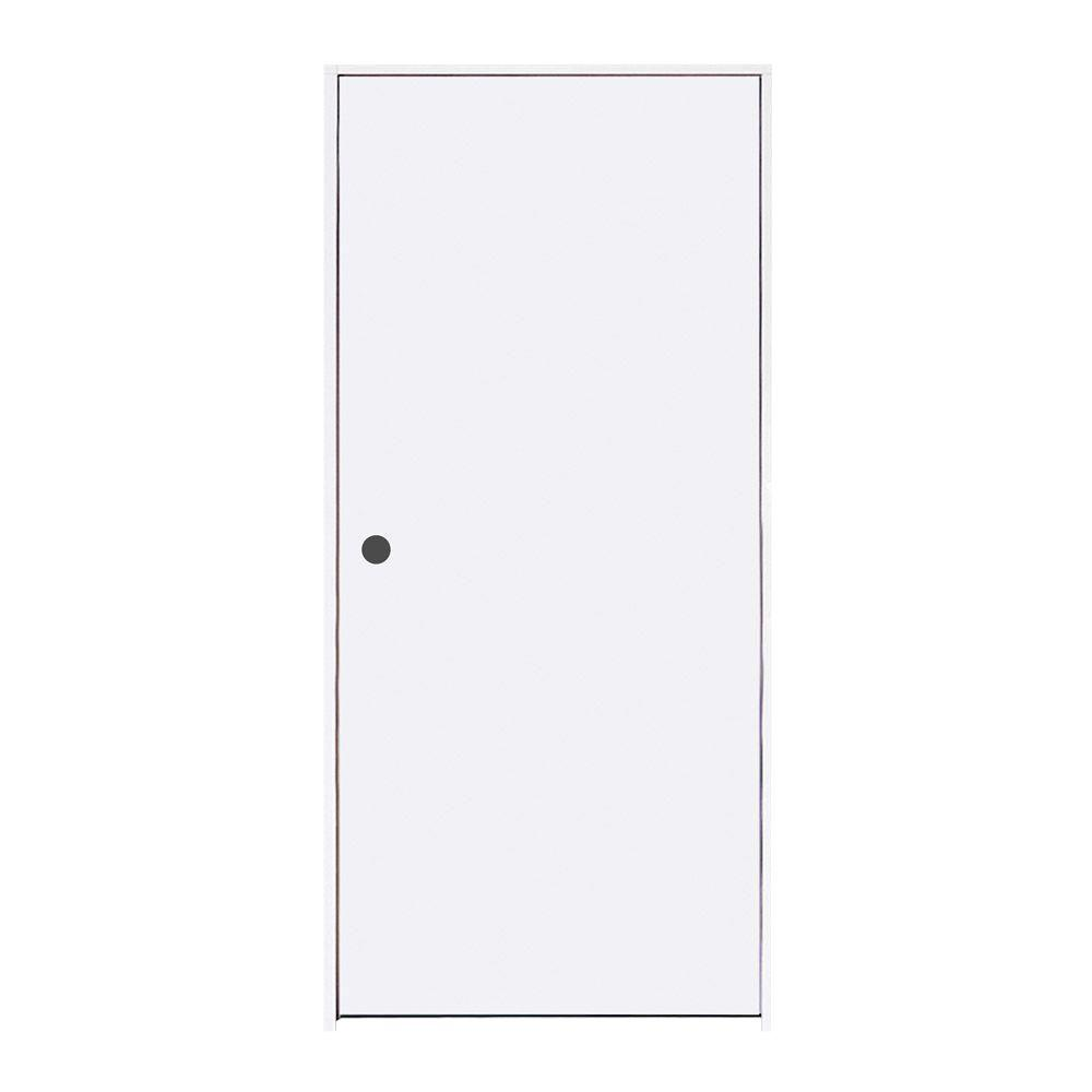 JELD WEN 32 In. X 80 In. Primed Right Hand Flush Hardboard