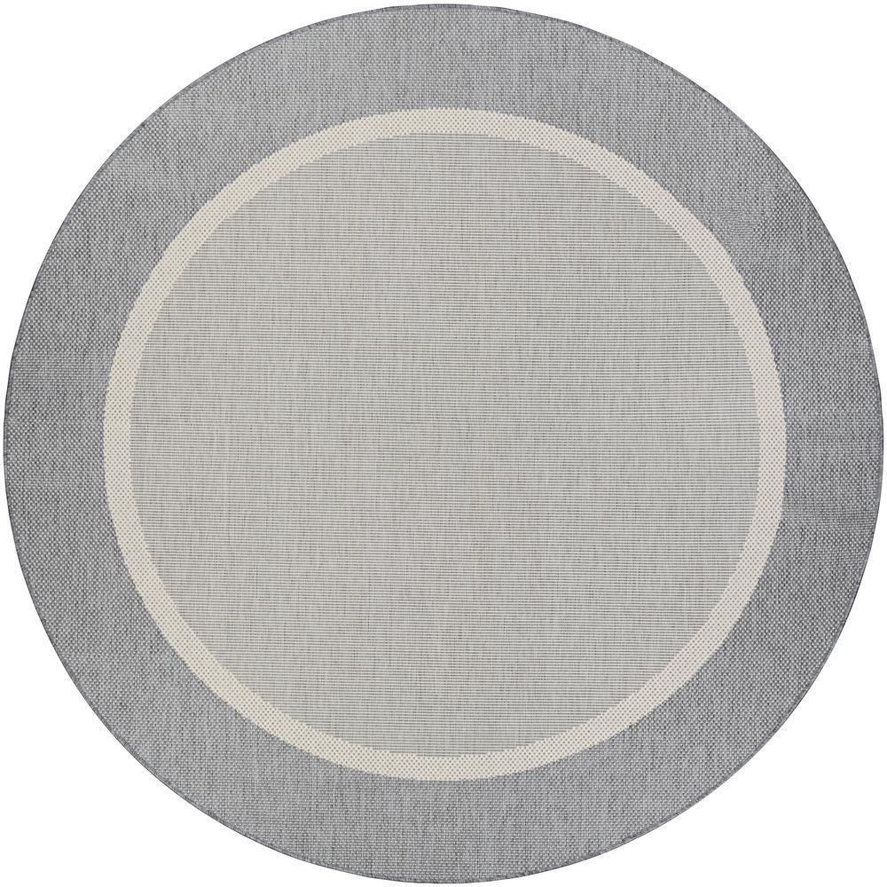 Recife Stria Texture Champagne Grey 8 Ft X Round Indoor