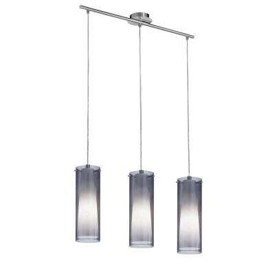 Pinto Nero 3-Light Matte Nickel Hanging Light