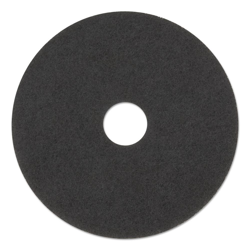 12 in. Standard Stripping Black Floor Pads (Case of 5)