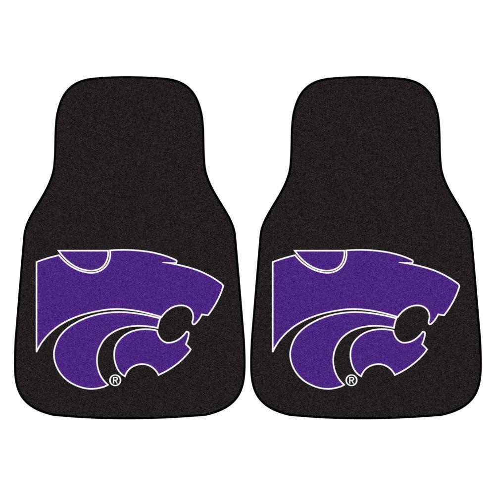 Kansas State University 18 in. x 27 in. 2-Piece Carpeted Car