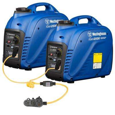 5,000-Watt Parallel Gas Powered Inverter Generator Combination with Parallel Cord