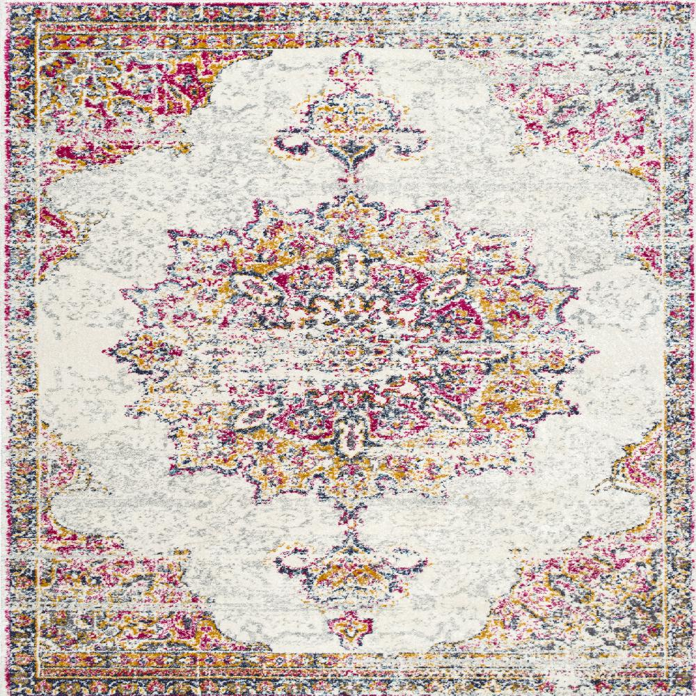 Nuloom Sunny Wildflower Medallion Pink 8 Ft X 8 Ft