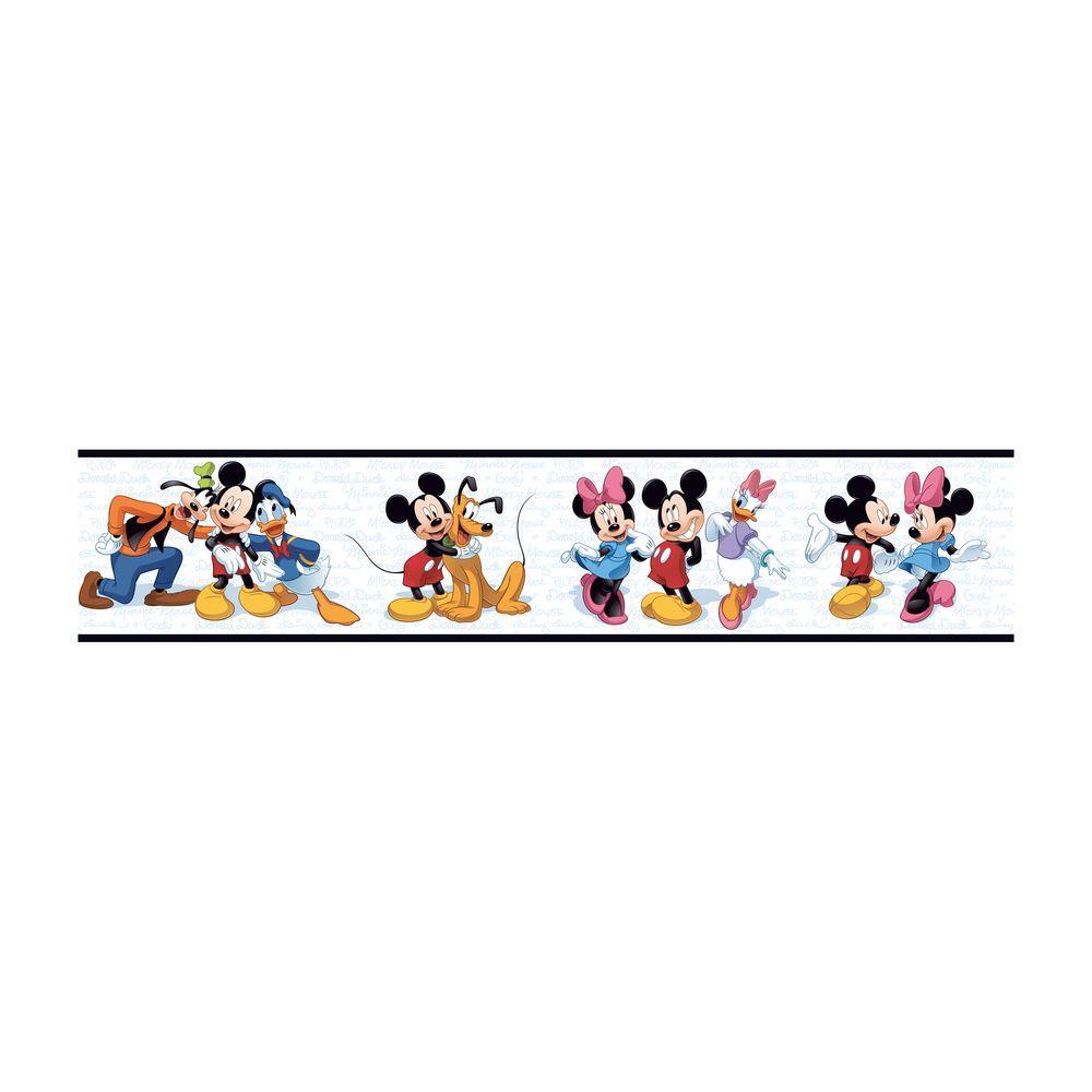 York Wallcoverings Disney Kids Mickey and Friends Wallpaper Border