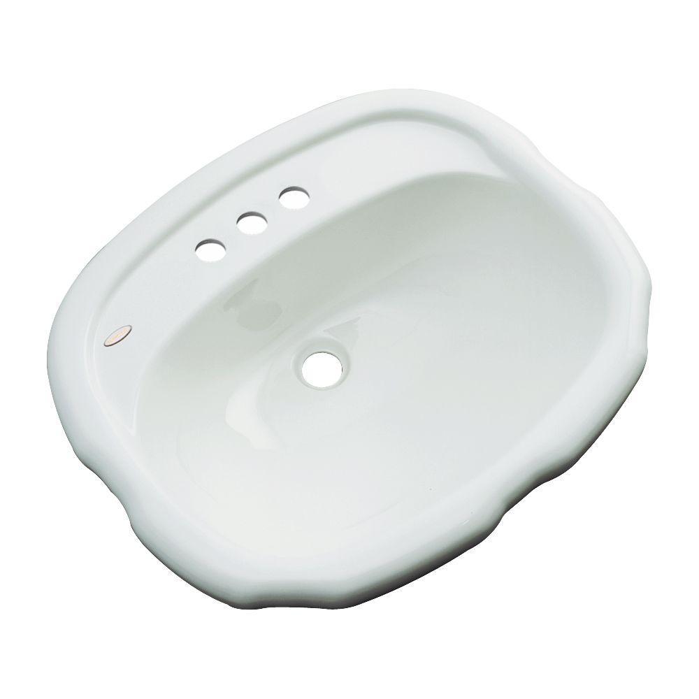 Aymesbury Drop-In Bathroom Sink in Ice Gray