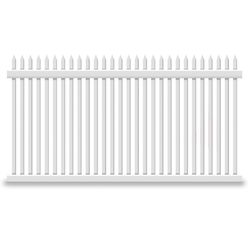 Hartford 4 ft. H x 8 ft. W White Vinyl Picket