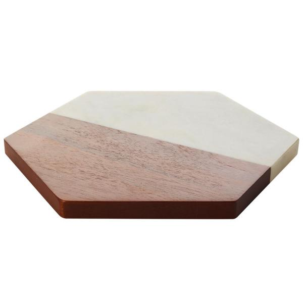 Urban Story Wood and Marble Fifty Tray