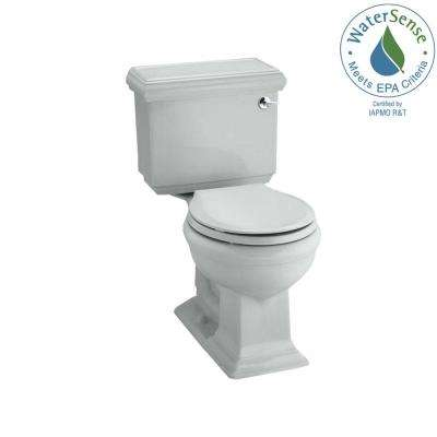 Memoirs Classic 2-piece 1.28 GPF Single Flush Round Toilet in Ice Grey, Seat Not Included