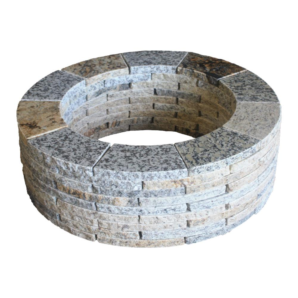 Granite Round Fire Pit Kit - 23 In. Granite Round Fire Pit Kit-GRFP23 - The Home Depot