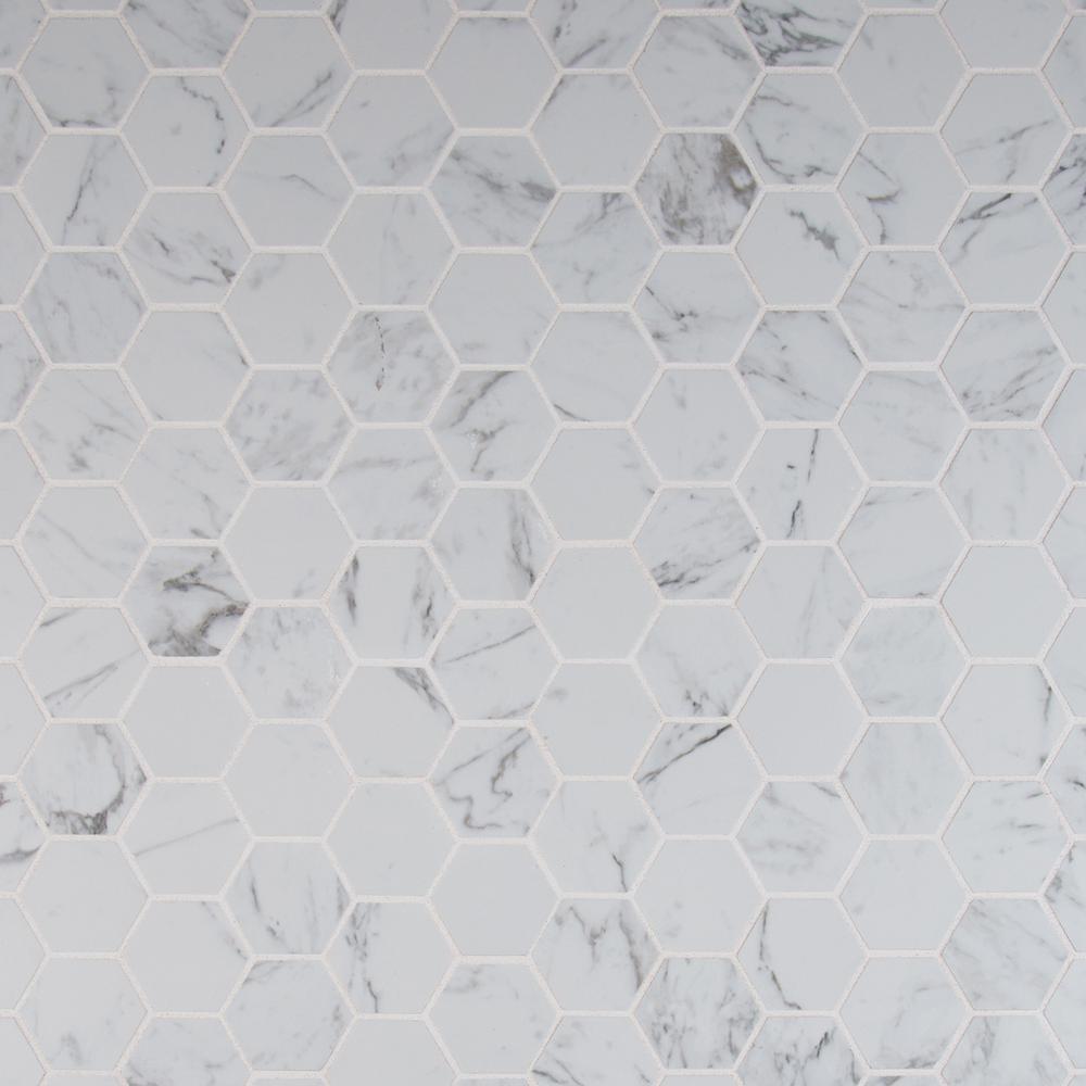 Msi Carrara Hexagon 12 In X