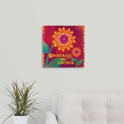 """Encourage One Another"" by Velvet Lime Girls Canvas Wall Art"