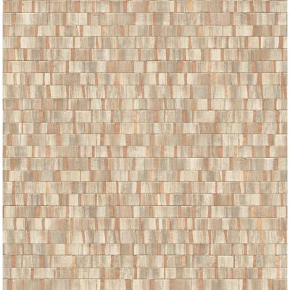 Constantine Copper Faux Wood Wallpaper Sample