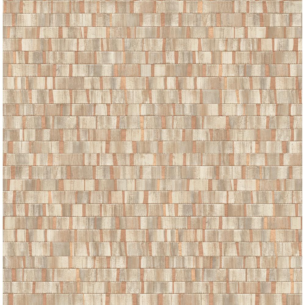 Fine Decor Constantine Copper Faux Wood Wallpaper Sample 2900-24925SAM