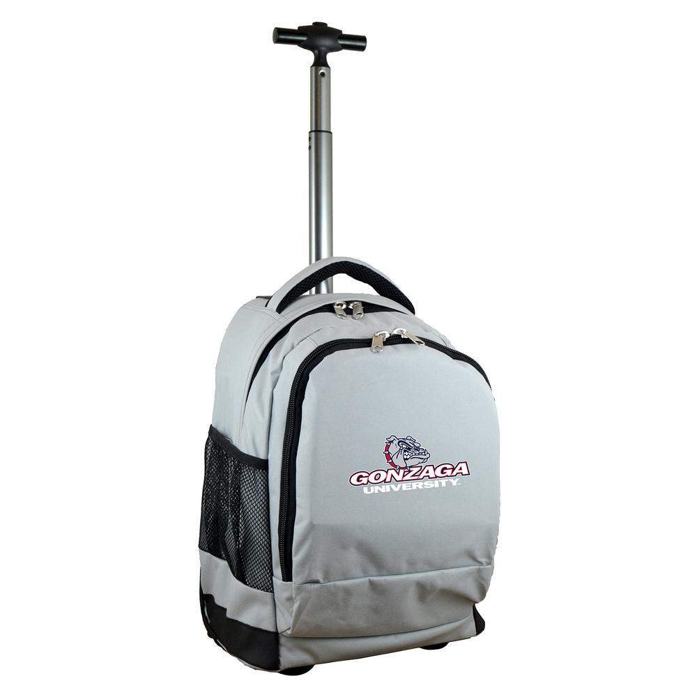 NCAA Gonzaga 19 in. Gray Wheeled Premium Backpack