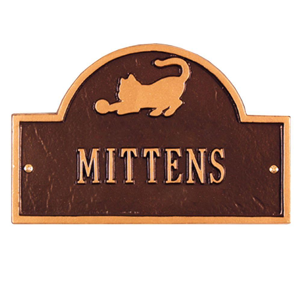 Pet Cat Mini Arch Antique Copper One Line Wall Marker